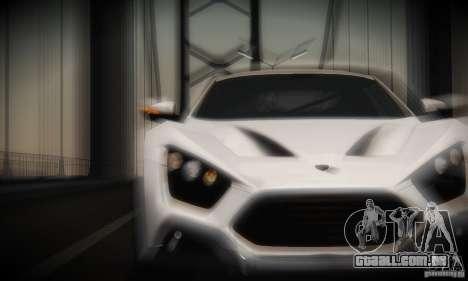 Zenvo ST1 2010 para GTA San Andreas vista interior