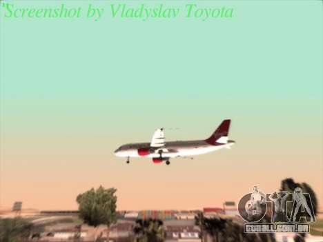 Airbus A320-211 Virgin Atlantic para GTA San Andreas vista interior