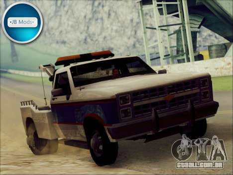 New Towtruck para GTA San Andreas traseira esquerda vista