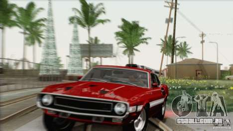 Shelby GT500 428 Cobra Jet 1969 para GTA San Andreas vista superior