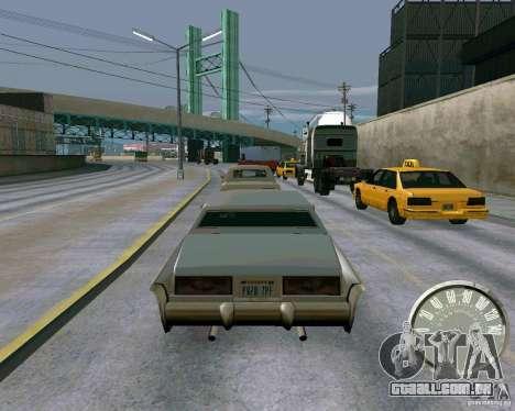Velocímetro de Mustang clássico para GTA San Andreas terceira tela