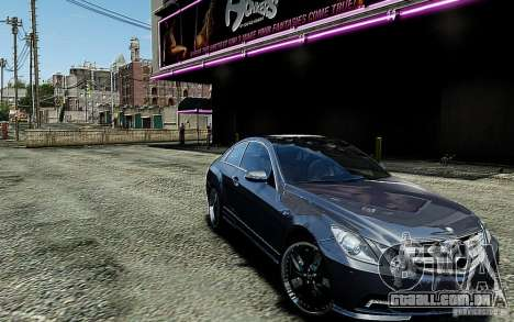 Mercedes Benz E500 Coupe para GTA 4 vista de volta