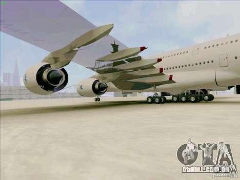 Airbus A380-800 para GTA San Andreas vista traseira
