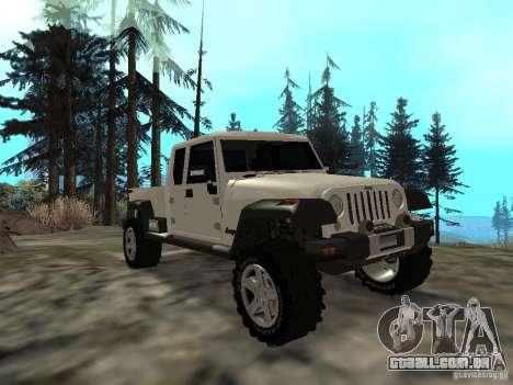 Jeep Gladiator para GTA San Andreas
