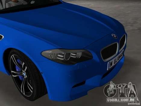 BMW M5 F10 2012 para GTA Vice City vista lateral