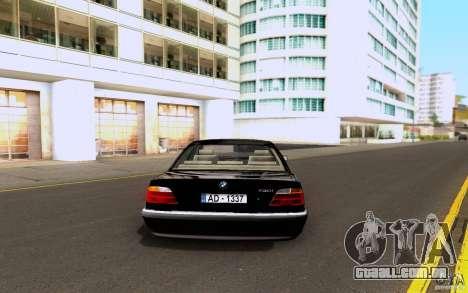 BMW 730i E38 FBI para GTA San Andreas vista direita