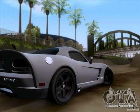 Dodge Viper SRT-10 Coupe para vista lateral GTA San Andreas