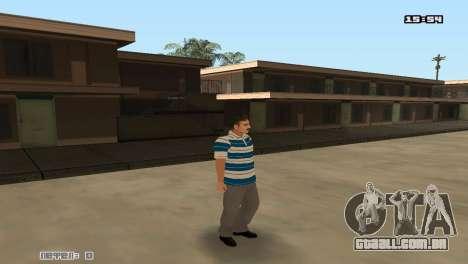 Construir peles Rifa para GTA San Andreas por diante tela