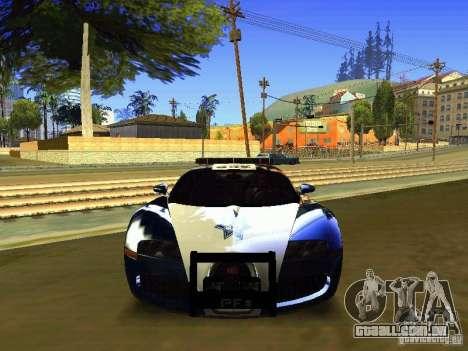 Bugatti Veyron Federal Police para GTA San Andreas vista traseira