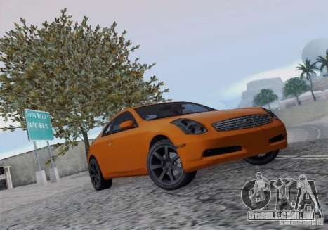 Infiniti G35 para GTA San Andreas vista interior