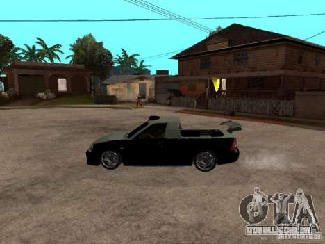 Lada Priora Pickup para GTA San Andreas esquerda vista