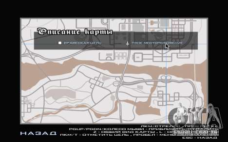 GTA V map para GTA San Andreas quinto tela