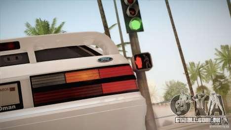 Ford Mustang SVT Cobra 1993 para vista lateral GTA San Andreas