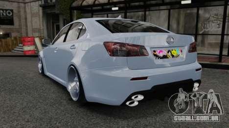 Lexus IS F 2009 para GTA 4 traseira esquerda vista