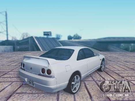 Nissan Skyline ECR33 para GTA San Andreas esquerda vista