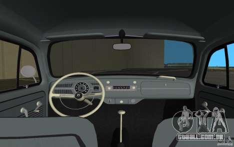 Volkswagen Beetle 1963 para GTA Vice City vista inferior