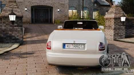 Rolls-Royce Phantom Convertible 2012 para GTA 4 traseira esquerda vista