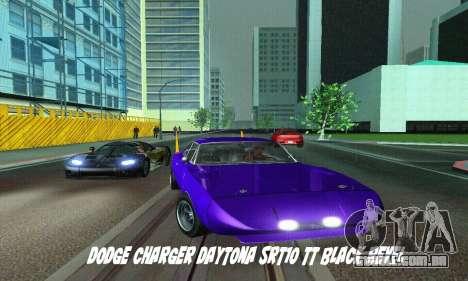 Dodge Charger Daytona SRT10 para GTA San Andreas traseira esquerda vista