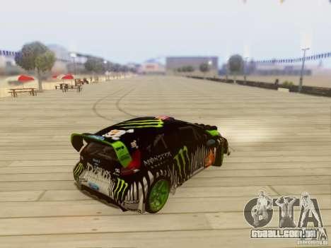 Ford Fiesta Gymkhana 3 para GTA San Andreas traseira esquerda vista