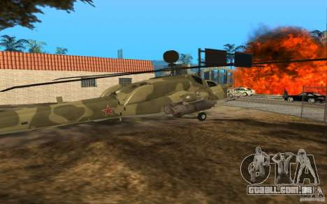 MI-28n para GTA San Andreas vista direita