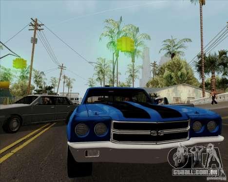 Chevrolet Chevelle SS para GTA San Andreas vista direita