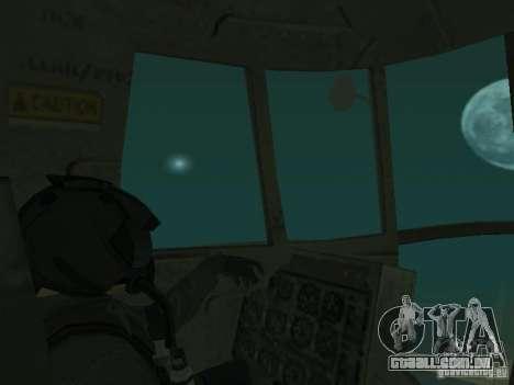 Piloto para GTA San Andreas quinto tela