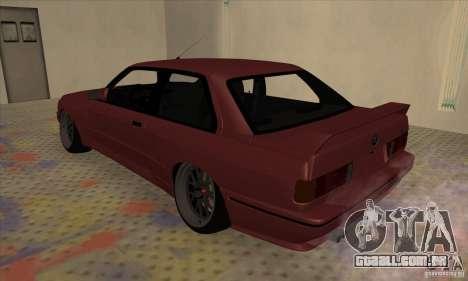 BMW M3 E30 1990 para GTA San Andreas esquerda vista