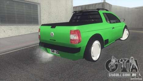 Volkswagen Saveiro 2013 para GTA San Andreas vista direita