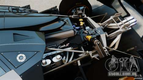 Pagani Zonda R 2009 para GTA 4 vista interior