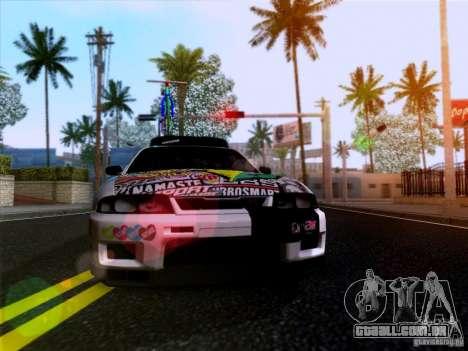 Nissan GT-R R33 HellaFlush para GTA San Andreas vista traseira