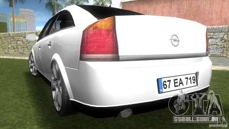Opel Vectra para GTA Vice City deixou vista