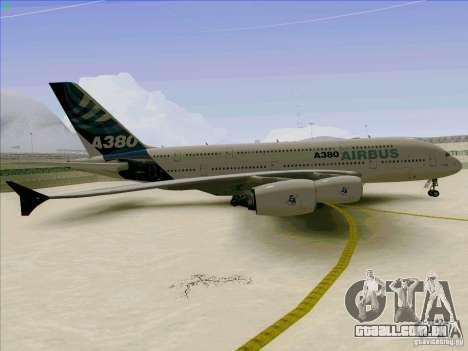 Airbus A380-800 para GTA San Andreas vista interior