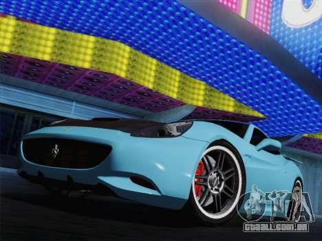 Ferrari California para as rodas de GTA San Andreas