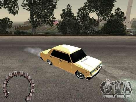 VAZ 2107 ouro para GTA San Andreas esquerda vista