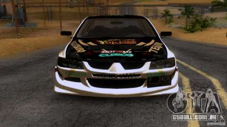 Mitsubishi Lancer Evolution 8 para GTA San Andreas vista interior