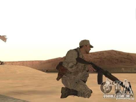 Um soldado soviético pele para GTA San Andreas por diante tela