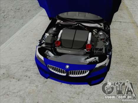 BMW Z4 2011 para GTA San Andreas vista traseira