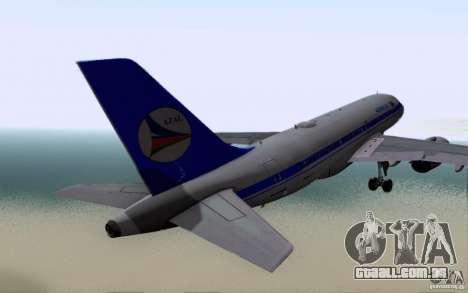 Airbus A-319 Azerbaijan Airlines para GTA San Andreas vista direita