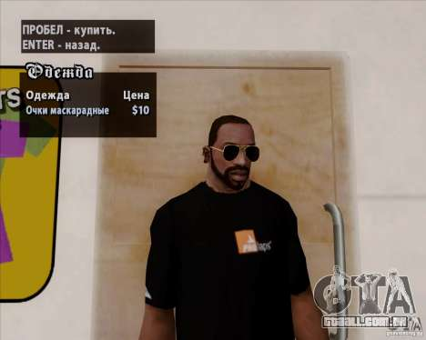 Óculos de aviador para GTA San Andreas terceira tela