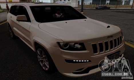 Jeep Grand Cherokee SRT-8 2013 para GTA San Andreas traseira esquerda vista