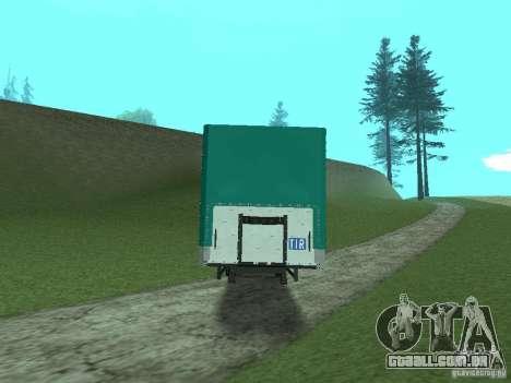 Trailer KOGEL para GTA San Andreas traseira esquerda vista