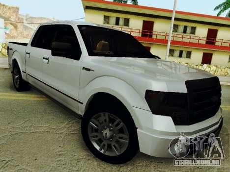 Ford F150 Platinum Edition 2013 para GTA San Andreas traseira esquerda vista