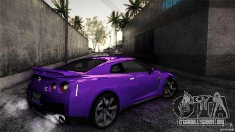 Nissan GT-R35 v1 para GTA San Andreas vista traseira