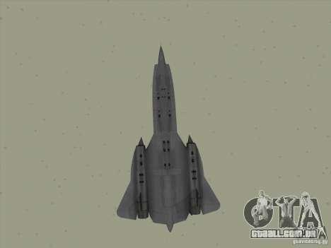 YF-12A para vista lateral GTA San Andreas