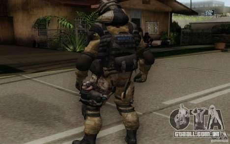 O médico de Warface para GTA San Andreas terceira tela