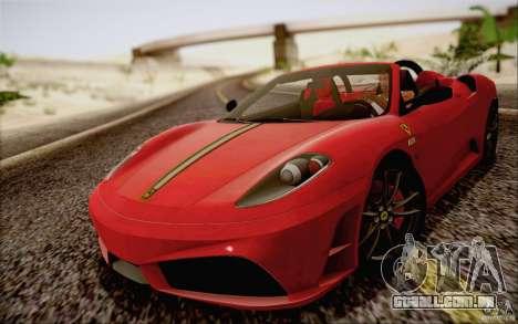 Ferrari F430 Scuderia Spider 16M para GTA San Andreas traseira esquerda vista