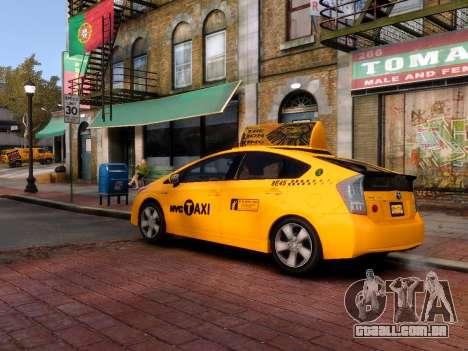 Toyota Prius NYC Taxi 2013 para GTA 4 traseira esquerda vista