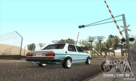 Volkswagen Jetta MK1 para GTA San Andreas vista traseira