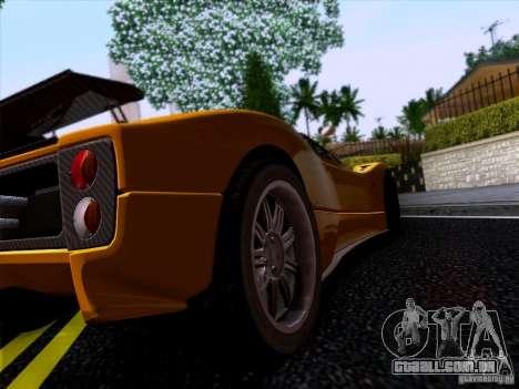 Pagani Zonda C12S Roadster para GTA San Andreas traseira esquerda vista
