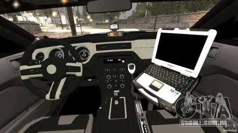 Ford Mustang 2013 Police Edition [ELS] para GTA 4 vista de volta